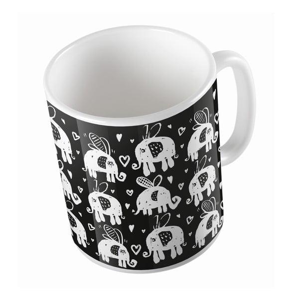 Keramický hrnek Flying Elephants, 330 ml