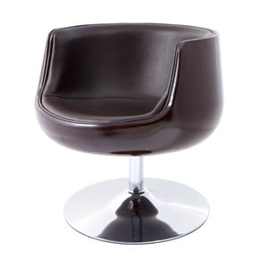 Otočná židle Cognac, hnědá