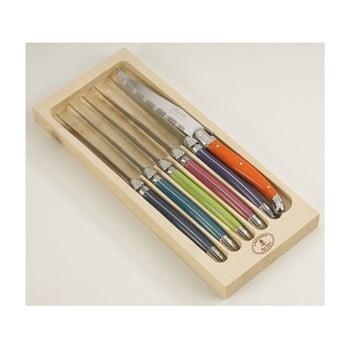 Set 6 cuțite din inox pentru friptură, în cutie de lemn London Jean Dubost London