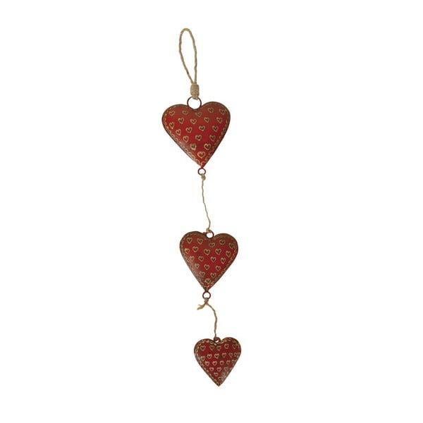 Závěsná dekorace Antic Line Garland Three Hearts