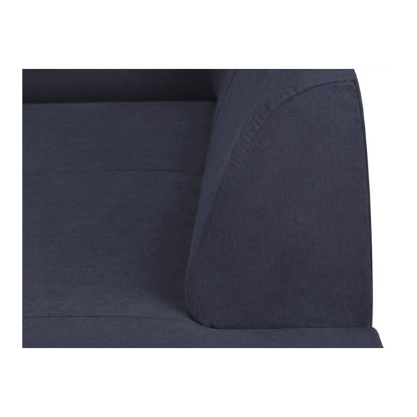 Canapea extensibilă cu spațiu pentru depozitare Kooko Home XL Right Corner Sofa Puro, albastru închis