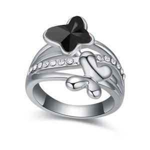 Prsten s krystaly Swarovski Empathy Nera, velikost 52