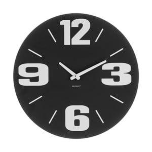 Černé nástěnné hodiny Brandani Disco