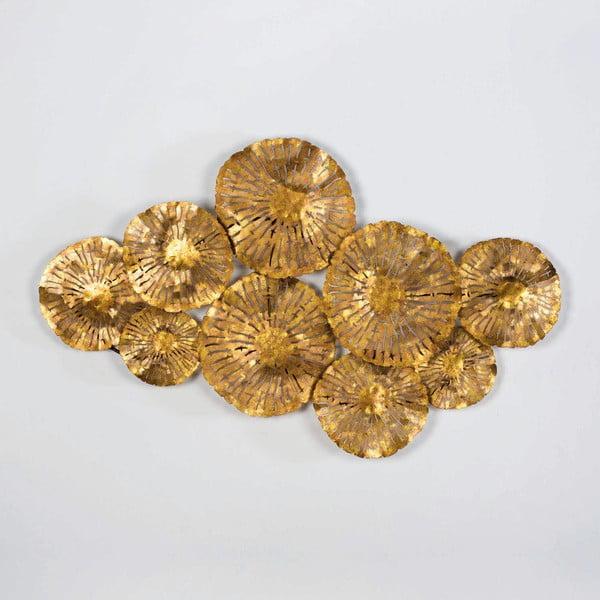 Nástěnná dekorace ve zlaté barvě Thai Natura Khlong, 109x64cm