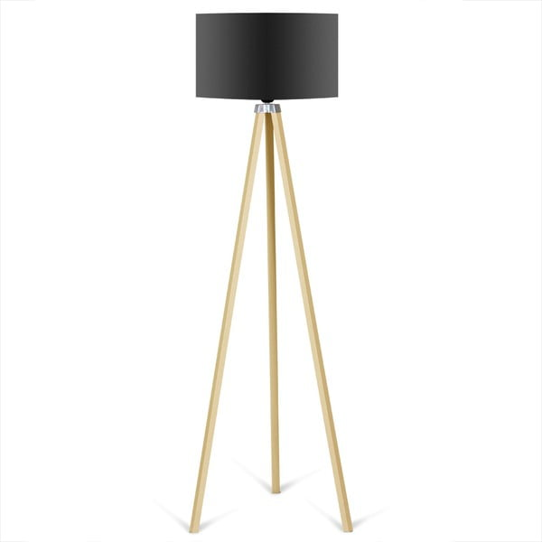 Caresso állólámpa fekete lámpabúrával - Kate Louise