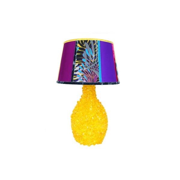Stolní lampa Crystal Fuchsia Yellow