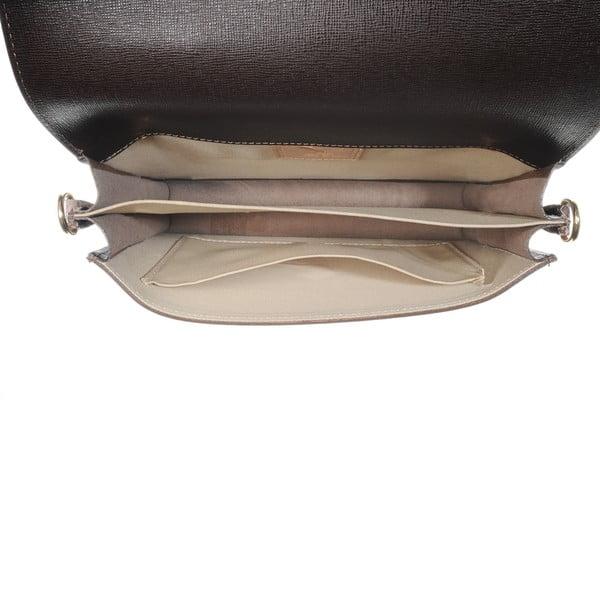 Kožená menší kabelka Moon Brown