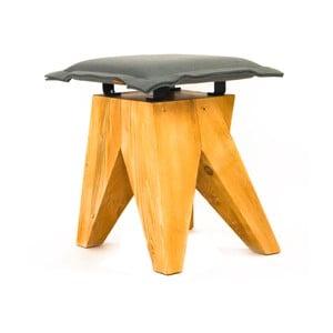 Dřevěná stolička Low, šedá
