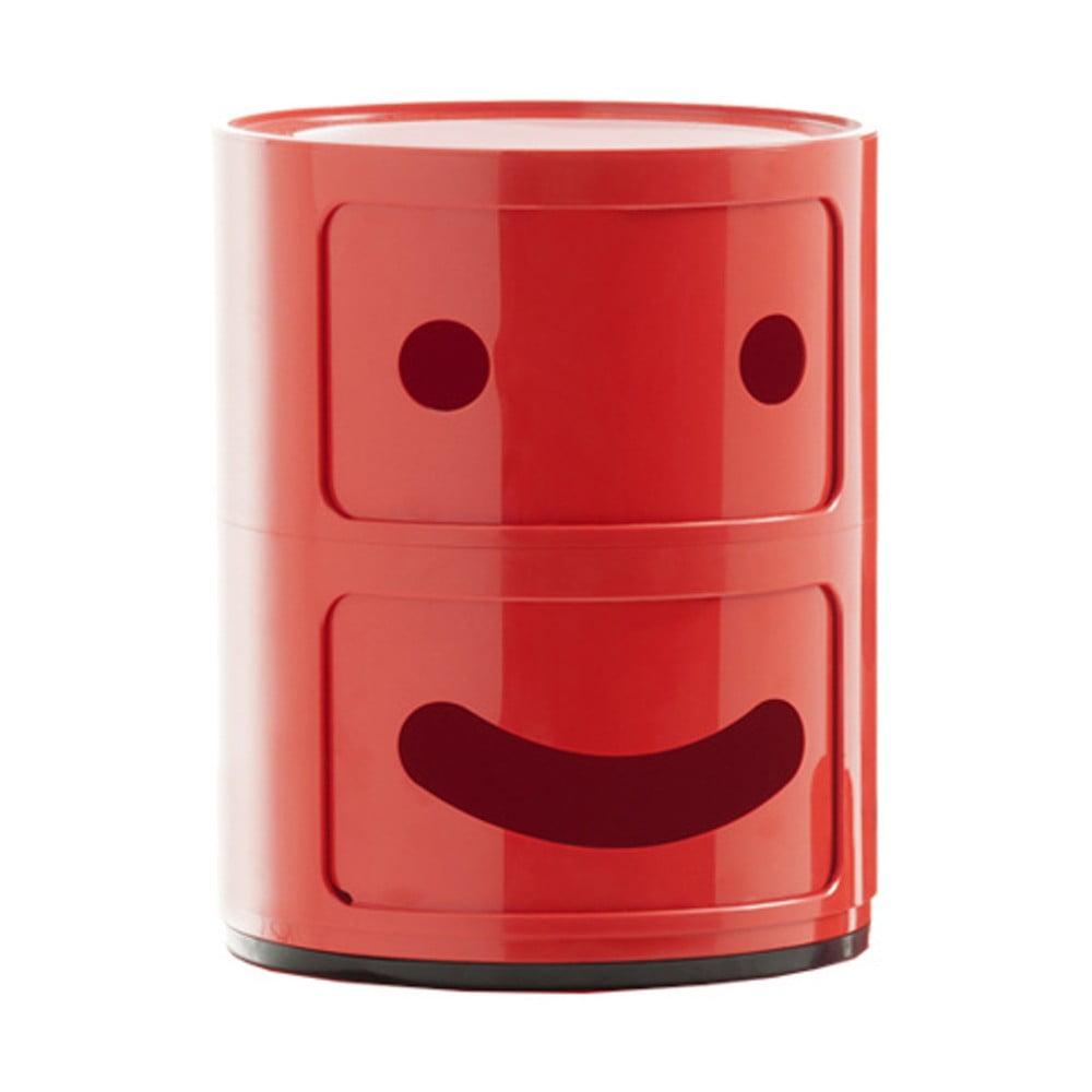 Červený kontejner se 2 zásuvkami Kartell Componibili Smile