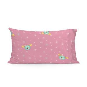 Růžový bavlněný povlak na polštář Mr. Fox Pumpkin, 50x75cm