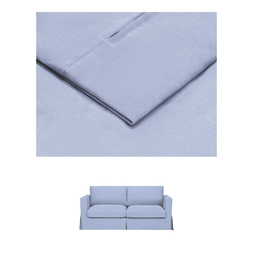 Modrý povlak na rozkládací trojmístnou pohovku THE CLASSIC LIVING Jean