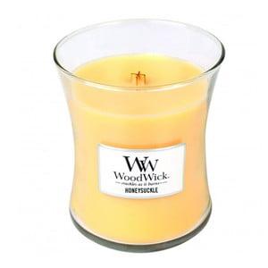Lumânare parfumată WoodWick, aromă de caprifoi și iasomie, 60 ore