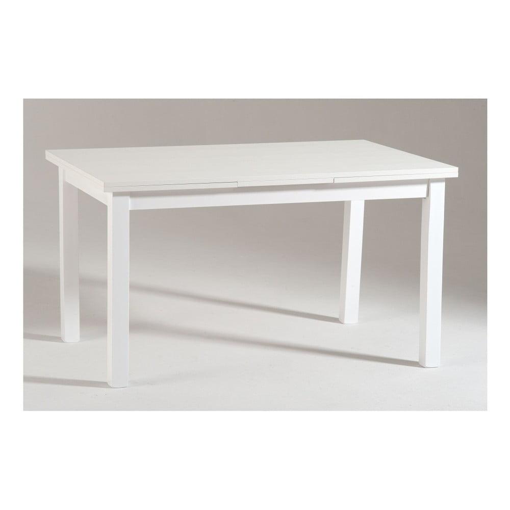 Bílý dřevěný rozkládací jídelní stůl Castagnetti Wyatt, 130 cm