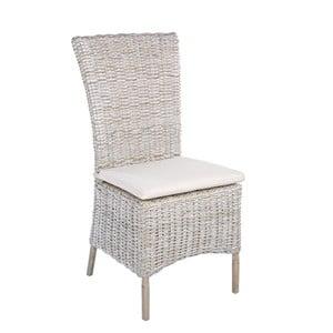 Bílá ratanová židle Bizzotto Isla