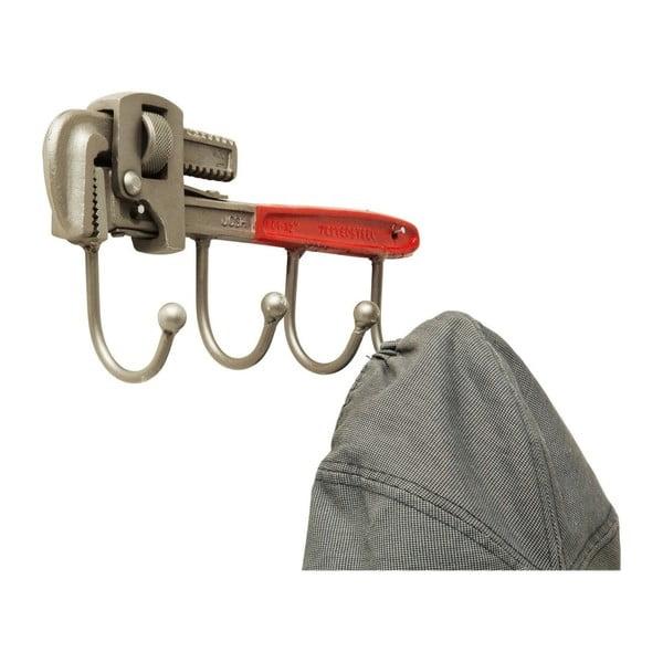 Nástěnný věšák z oceli Kare Design Pipe Wrench