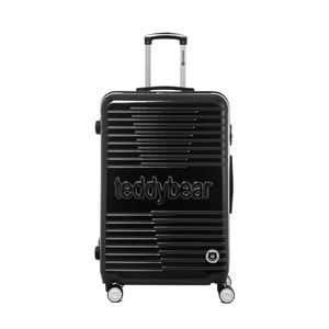 Černý cestovní kufr na kolečkách Teddy Bear Monica, 107 l