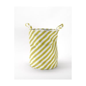 Úložný koš Stripes Mustard