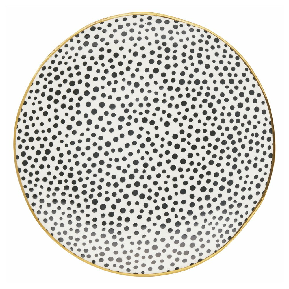 Talíř s černými tečkami Green Gate Dot, ⌀ 26,5 cm