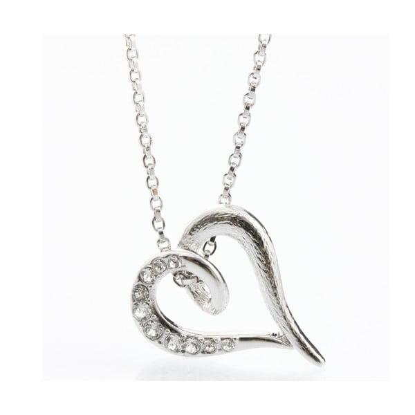 Náhrdelník Laura Bruni se Swarovski Elements Heart Crystal
