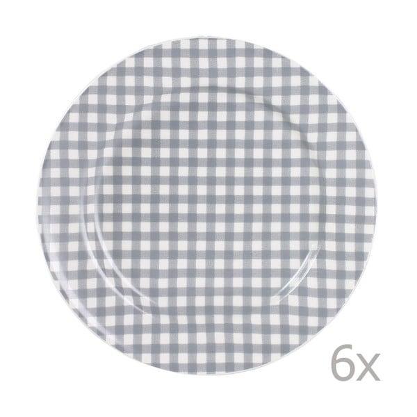 Sada 6 talířů Sarah 17 cm, šedý