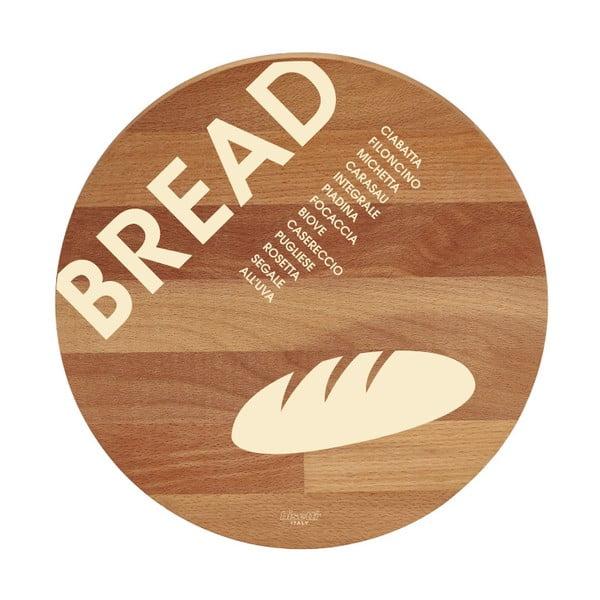 Bread bükkfa tálalódeszka/vágódeszka, ø 30cm - Bisetti