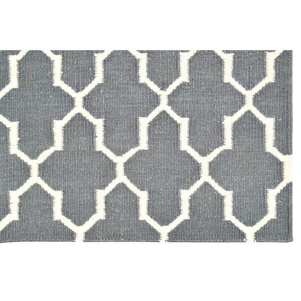 Ručně tkaný koberec Full Grey Pattern Kilim, 155x243 cm