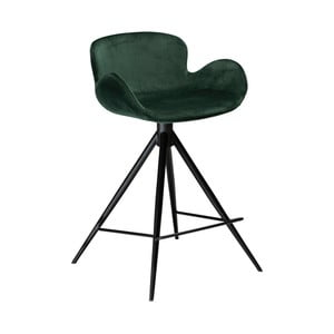 Tmavě zelená barová židle DAN–FORM Denmark Gaia Velvet, výška 87 cm