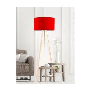 Červená stojací lampa Simple