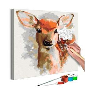 DIY set na tvorbu vlastního obrazu na plátně Artgeist Charming Fawn, 40x40 cm