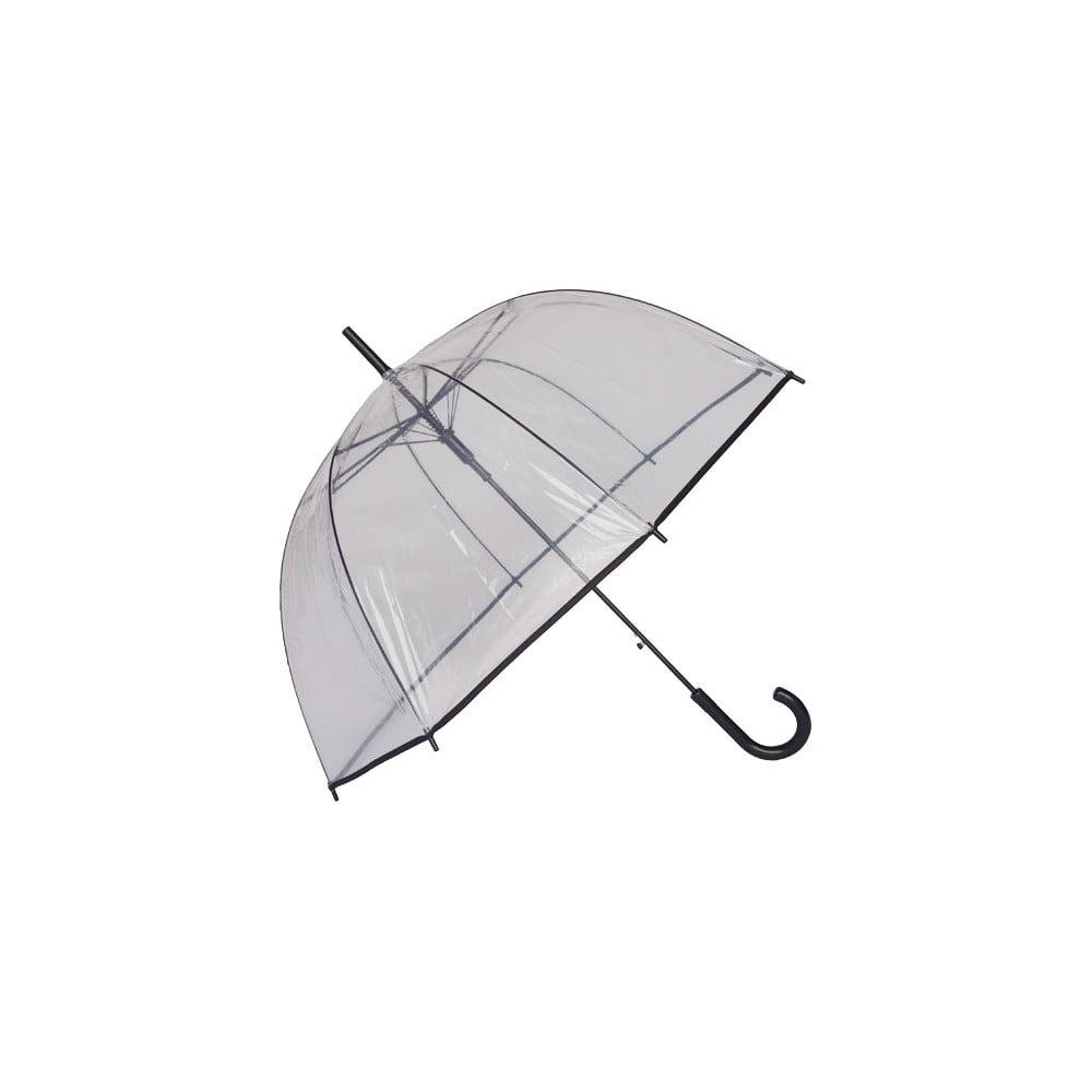 Transparentní deštník s černým lemem Liner