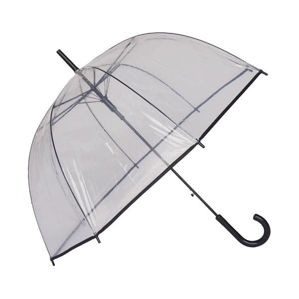 Birdcage Border átlátszó esernyő fekete részletekkel, ⌀ 81 cm
