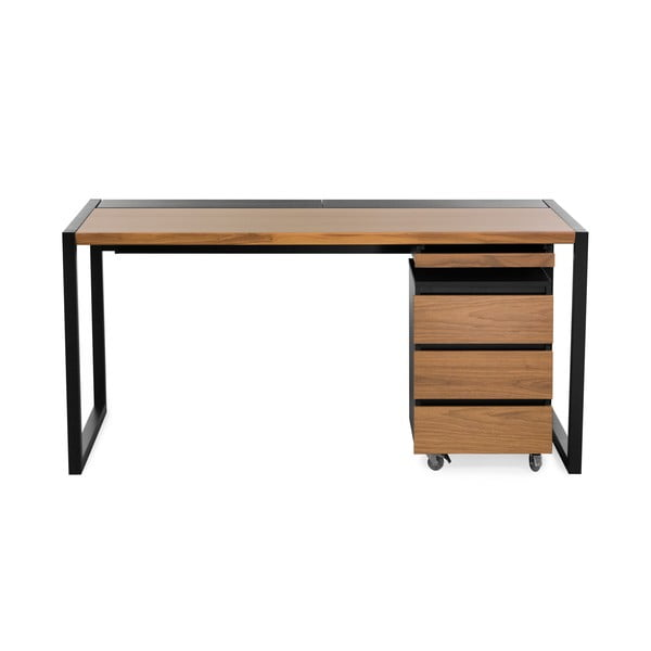 Pracovní stůl s tmavě hnědou deskou We47 c