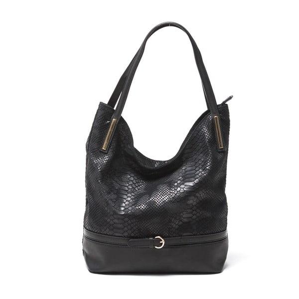 Kožená kabelka Sofia Cardoni Adona, černá