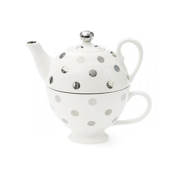 Konvička na čaj s puntíky