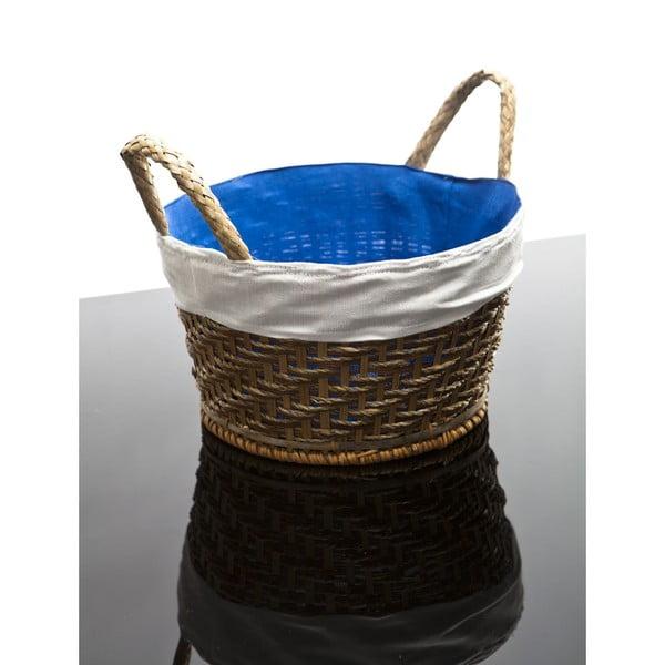 Proutěný košík Lindsey, modrý