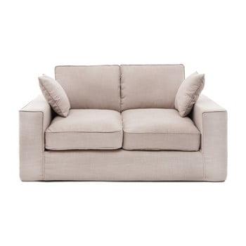 Canapea cu 2 locuri Vivonia Jane, bej de la Vivonita