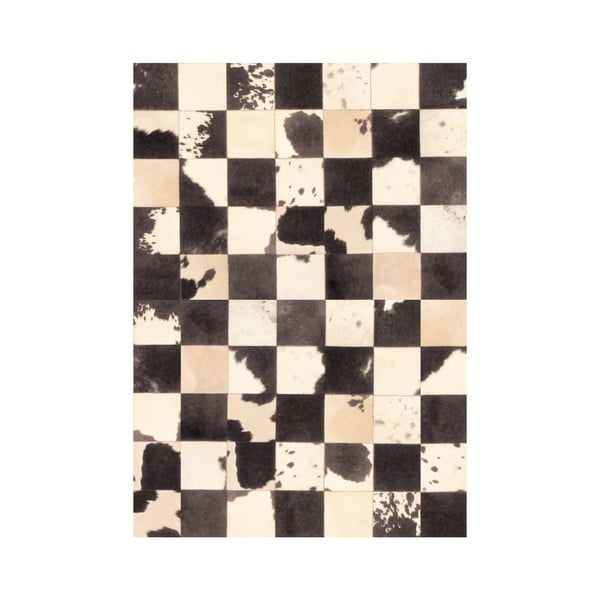 Koberec z vinylu Patchwork Blanco Negro, 99x120 cm