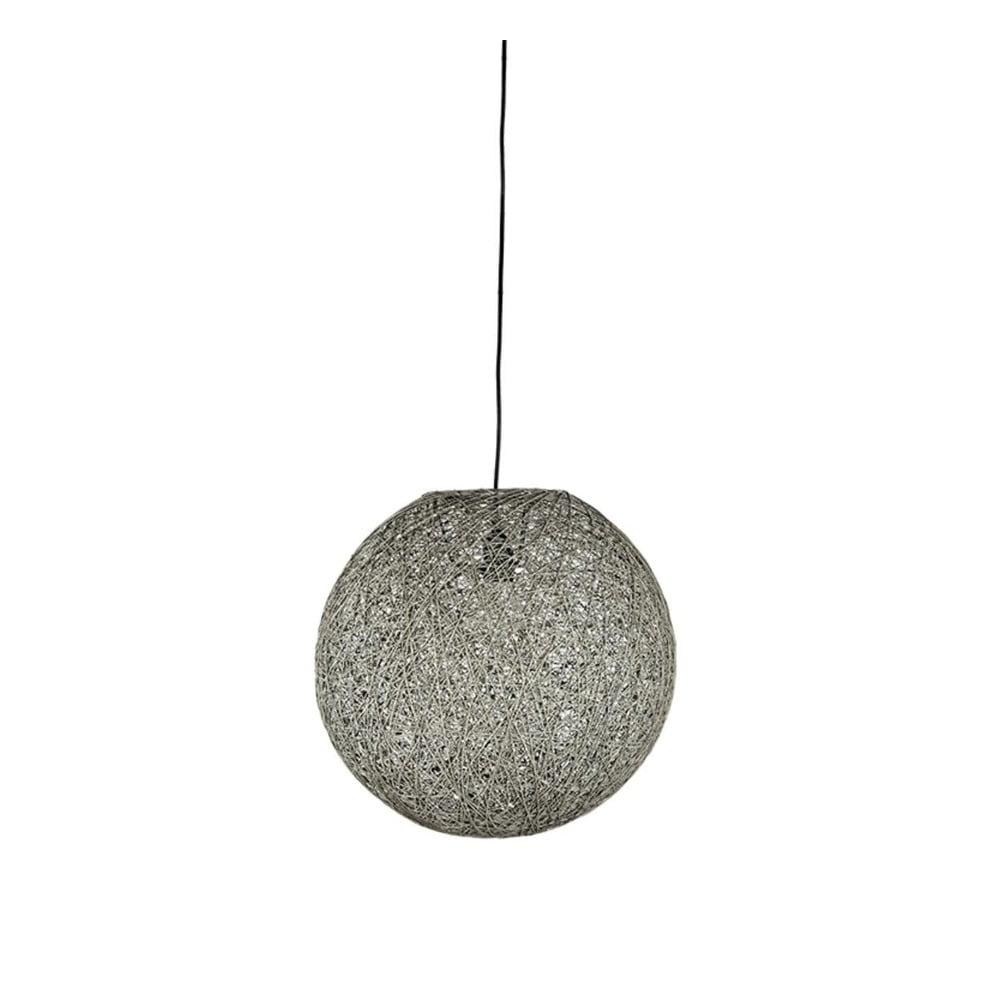 Šedé stropní svítidlo LABEL51 Twist, ⌀ 45 cm
