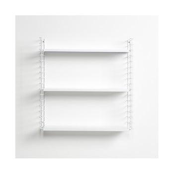Etajeră cu 3 nivele cu polițele albe Metaltex Libro, lungime 70 cm de la Metaltex