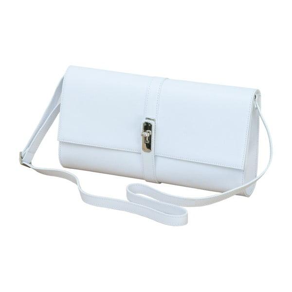 Bílá kožená kabelka Andrea Cardone 1010
