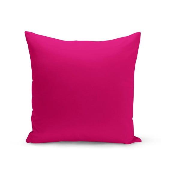 Růžový polštář s výplní Lisa, 43 x 43 cm