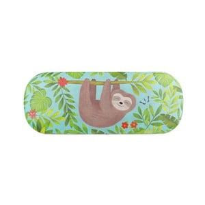 Zelené pouzdro na brýle s motivem lenochoda Sass & Belle