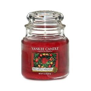 Vonná svíčka Yankee Candle Věnec z červených jablíček, doba hoření 65 - 90 hodin