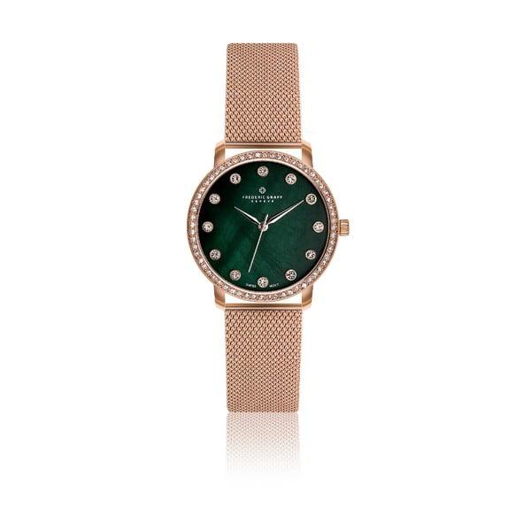Zegarek damski z paskiem ze stali nierdzewnej w różowozłotym kolorze Frederic Graff Mont Gele