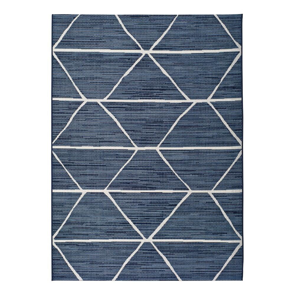 Modrý venkovní koberec Universal Elba, 60x110cm