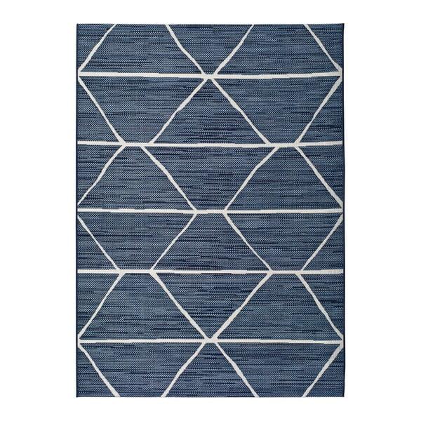Modrý venkovní koberec Universal Elba, 160x230cm