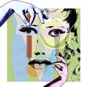 Abstraktní obraz Collage Portrait, 45 x 45 cm
