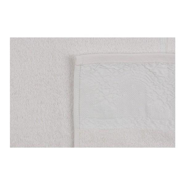Sada dvou ručníků v krémové barvě Baroque, 90x50cm