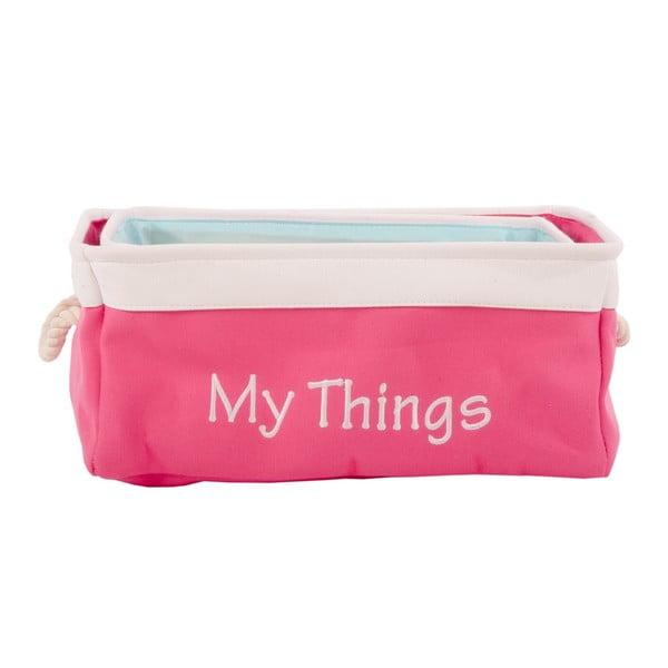 Sada 3 košíků My Stuff Pink