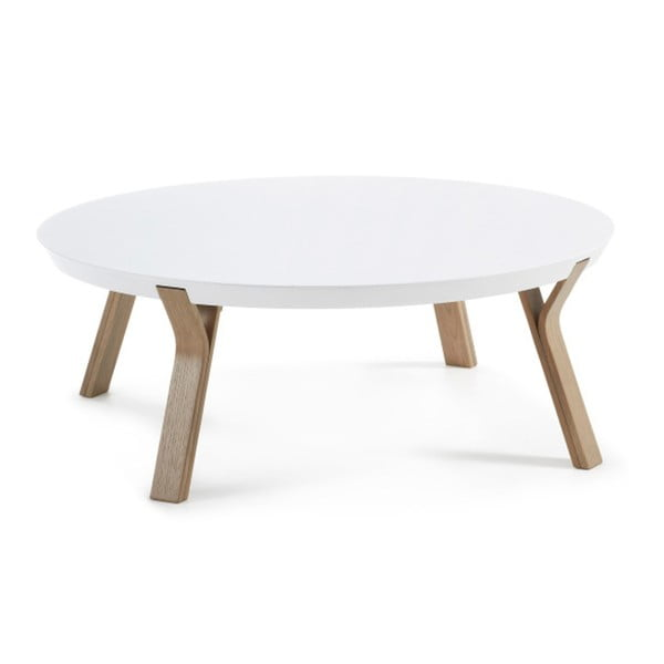 Solid fehér dohányzóasztal, Ø 90 cm - La Forma